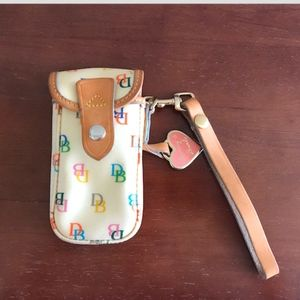 Dooney & Bourke color logo phone wristlet